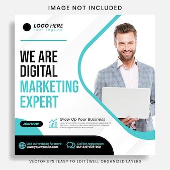 Digitaal zakelijk marketingbureau instagram-bericht en webbanner