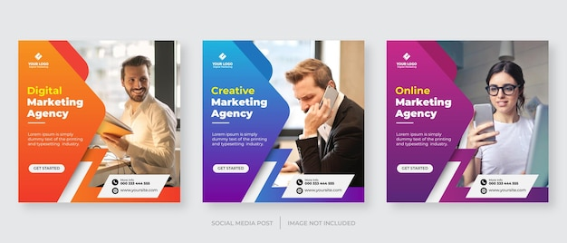Digitaal zakelijk marketingbureau instagram postsjabloon