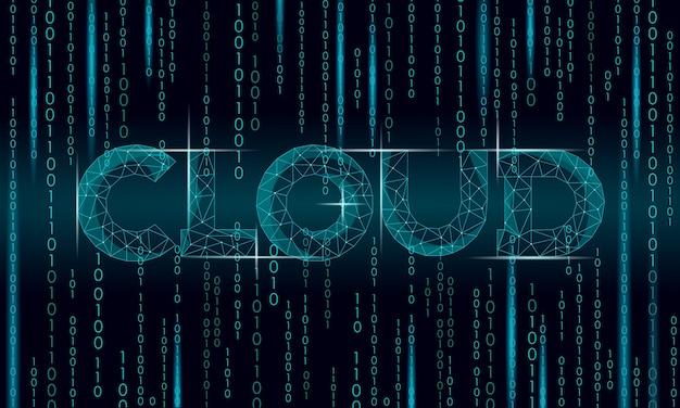 Digital computing online opslagtechnologie concept