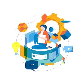 Digital content management, het creëren van boeiende online content