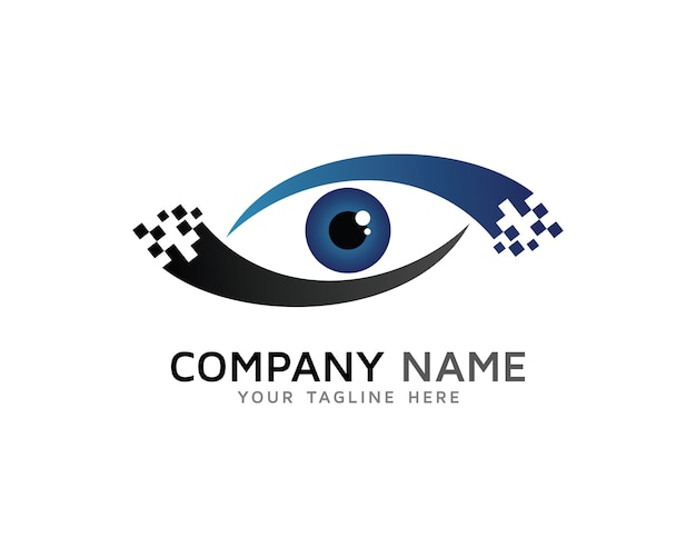 Digital eye logo design