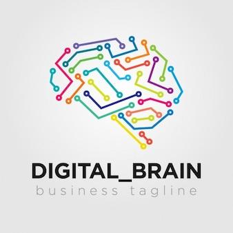 Digital logo hersenen