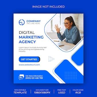 Digital marketing agency social media post banner design