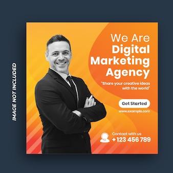 Digital marketing corporates social media post-sjabloon