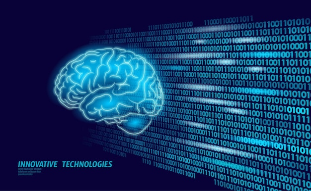 Digitale 3d-vorm van mentale educatie van het menselijk brein