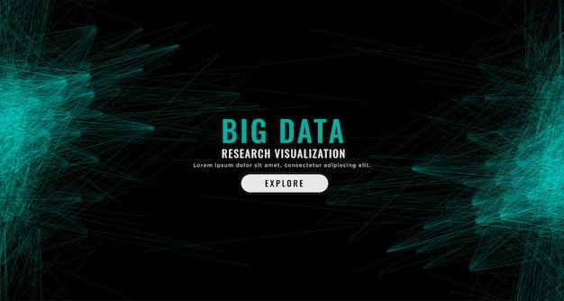 Digitale abstracte big data mesh achtergrond