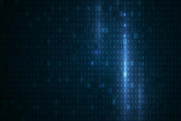 Digitale binaire cijfers technologie en gegevensbescherming concept