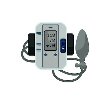 Digitale bloeddrukmeter monitor met toebehoren elektronische bloeddrukmeter met manchet en rubberen zak tonometer