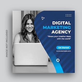 Digitale business marketingbureau sociale media plaatsen websjabloon voor spandoek