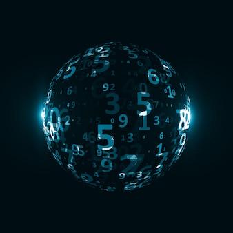 Digitale codeachtergrond