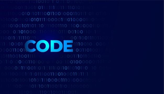 Digitale coderingsachtergrond met cijfers nul en één