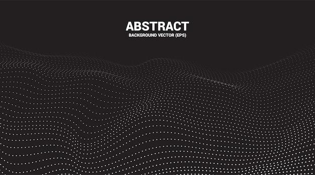 Digitale contourcurve punt en lijn rimpel en golf met draadframe. abstracte achtergrond voor futuristische technologie concept