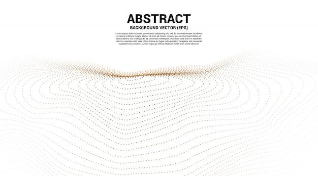 Digitale contourcurve, punt- en lijnrimpeling en golf met draadframe. abstracte achtergrond voor futuristisch technologieconcept