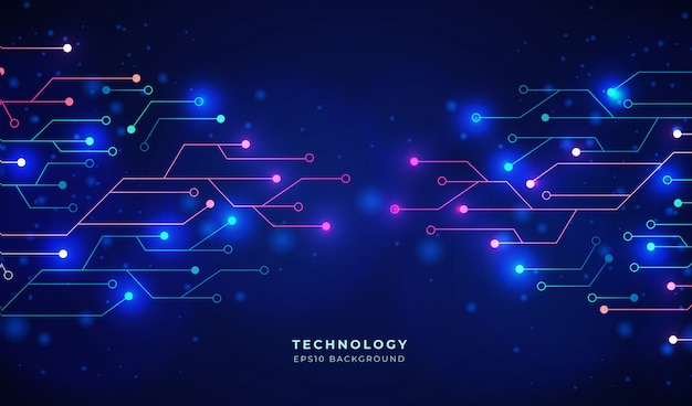 Digitale en blauwe toekomstige achtergrond