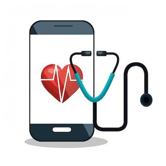 Digitale gezondheidszorg medische geïsoleerd