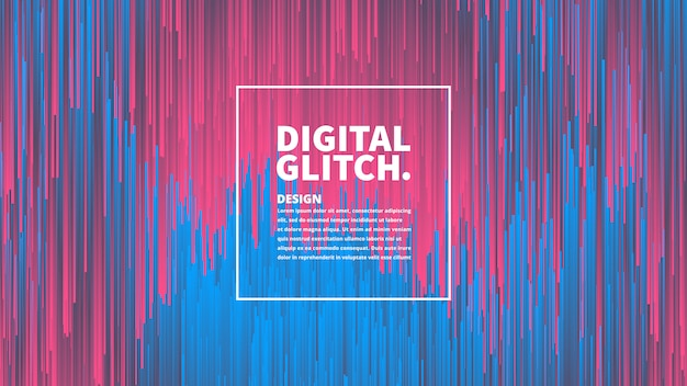 Digitale glitch effect technologie abstracte achtergrond