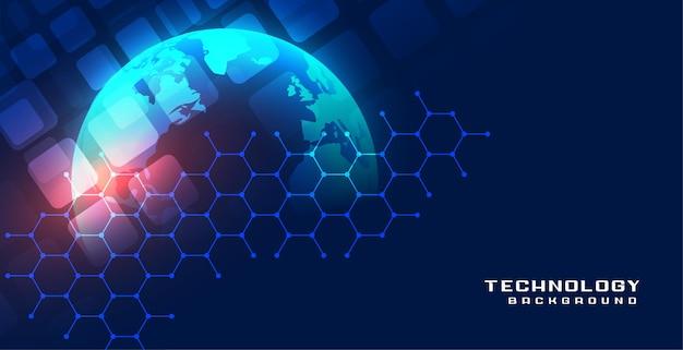 Digitale globale wereld technologie concept achtergrond