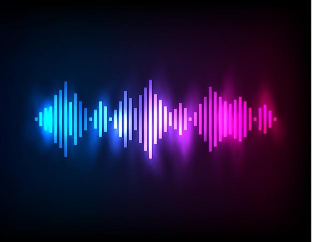 Digitale gloeiende kleurrijke equalizer