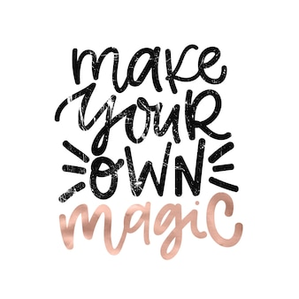 Digitale handgeschreven belettering positieve inspirerende motivatie citaat