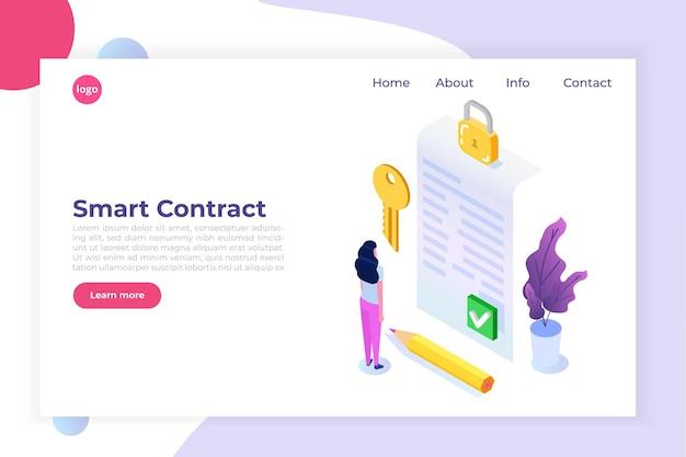 Digitale handtekening electronic smart contract landingpage