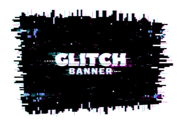 Digitale kleurvervorming glitch-scherm, lijnen en pixelruis achtergrond