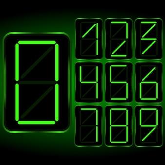 Digitale klok . digitaal uhr nummer. vector illustratie