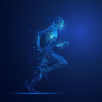 Digitale man loopt