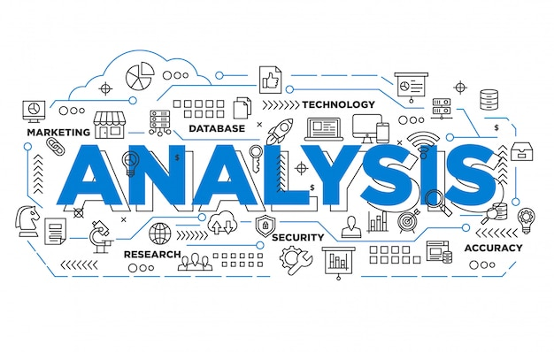 Digitale marketing analyse iconische achtergrond