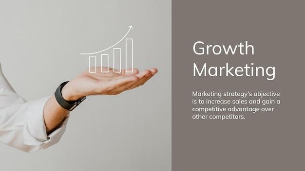 Digitale marketing bedrijfssjabloon over groeionderwerp voor presentatie