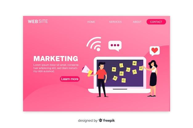 Digitale marketing bestemmingspagina sjabloon