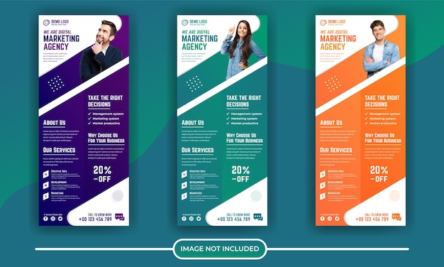 Digitale marketing corporate roll-up banner sjabloon