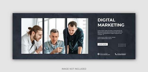 Digitale marketing en zakelijke social media post en webbanner ontwerpsjabloon