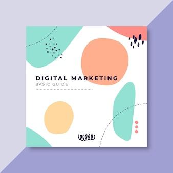 Digitale marketing facebook postsjabloon