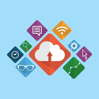 Digitale marketing iconen pack
