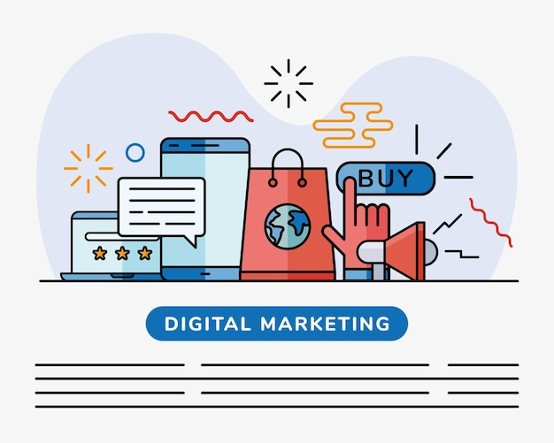 Digitale marketing illustratie