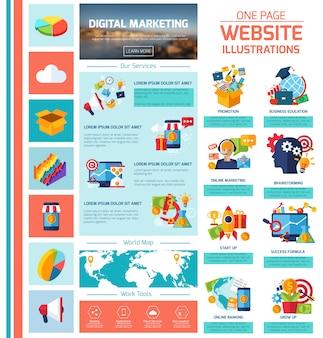 Digitale marketing infographics