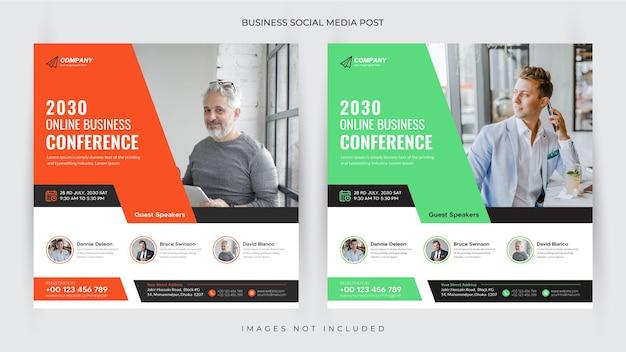Digitale marketing live webinar en social media post- en flyersjabloon of webbanner premium vector