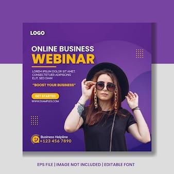 Digitale marketing live webinar en social media postsjabloon