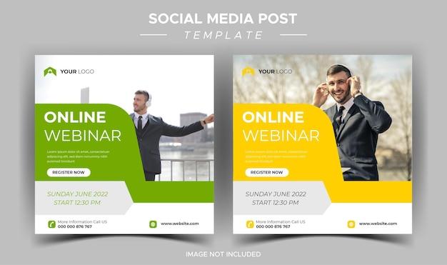 Digitale marketing live webinar sociale media sjabloon
