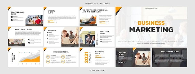 Digitale marketing multifunctioneel presentatieontwerp