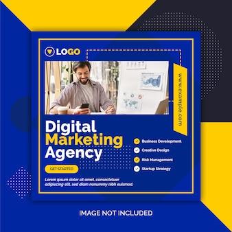 Digitale marketing sjabloon voor sociale media