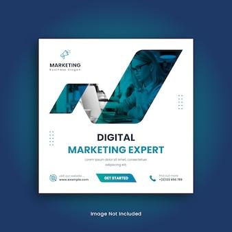 Digitale marketing social media post sjabloonontwerp