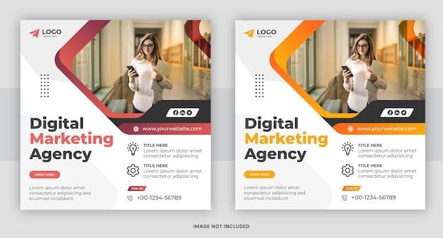 Digitale marketing sociale media en instagram post ontwerpsjabloon