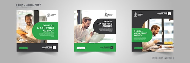 Digitale marketing sociale media postsjabloon