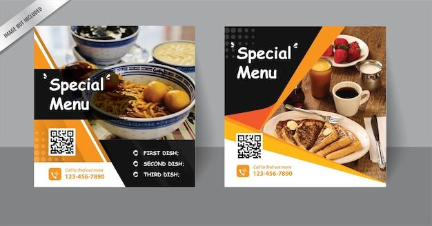 Digitale marketing vierkante flyer-sjabloon voor post op sociale media