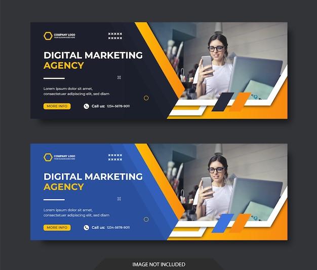 Digitale marketing zakelijke sociale media facebook voorbladsjabloon