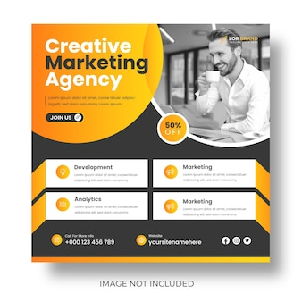 Digitale marketing zakelijke sociale media post en webbanner of marketingpromotie postontwerp