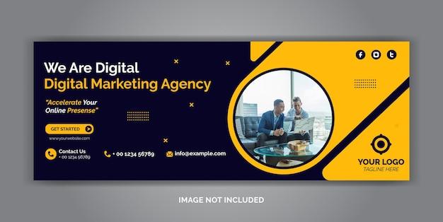 Digitale marketing zakelijke sociale media voorbladsjabloon