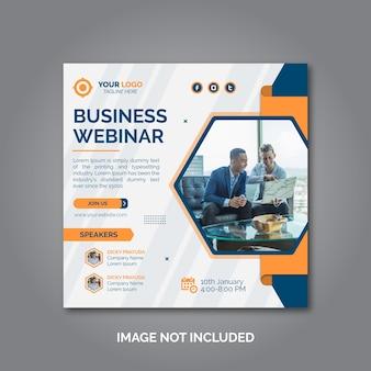 Digitale marketing zakelijke webinar conferentiebanner