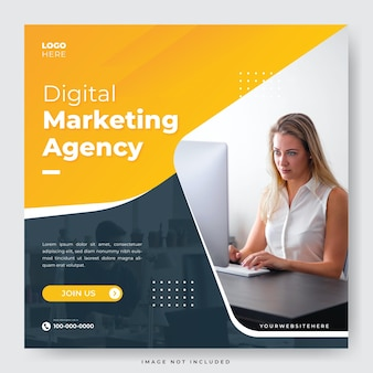 Digitale marketingbureau instagram social media postsjabloon